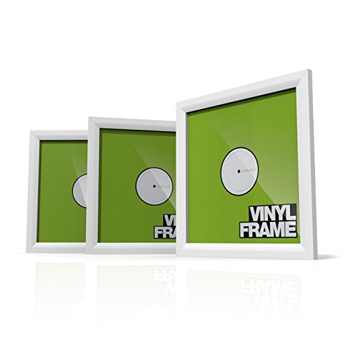 Glorious Vinyl Frame Set White - 3x Vinyl Cover Rahmen für 12