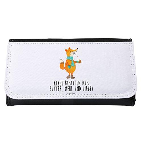 Mr. & Mrs. Panda Geldbörse, Geldbeutel, Damen Portemonnaie Fuchs Keks mit Spruch - Farbe Weiß