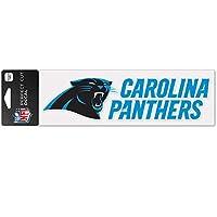 Wincraft デカール ステッカー 8x25cm - NFL カロライナ・パンサーズ (Carolina Panthers)
