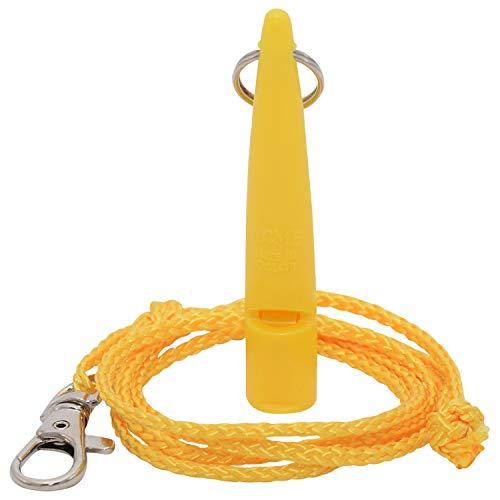ACME Hundepfeife No. 211,5 + GRATIS Pfeifenband   Original aus England   Ideal für die Hundeausbildung   Robustes Material   Genormte Frequenz   Laut und weitreichend (Yellow)