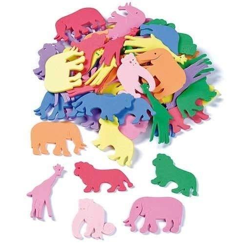 Knorr Prandell 218434021 Moosgummi-Tiere: 4–5 cm, Mehrfarbig