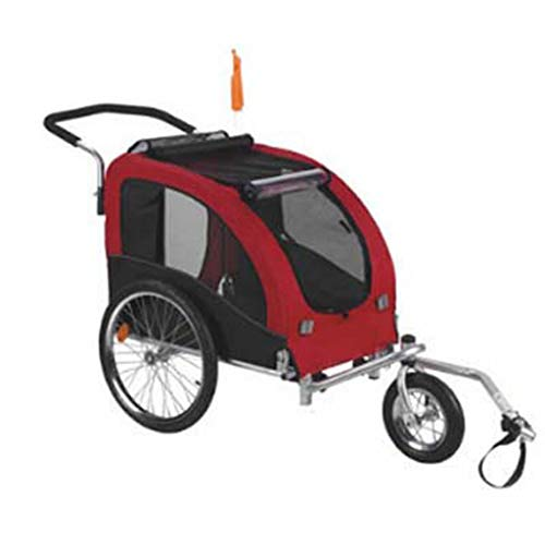 DONGYUA Pet Stroller European Style Three Rounds Gules Bike Trailer Dog High-end Car