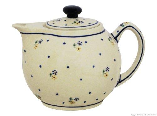 Original Bunzlauer - moderne Teekanne 1.0 Liter im Dekor 111