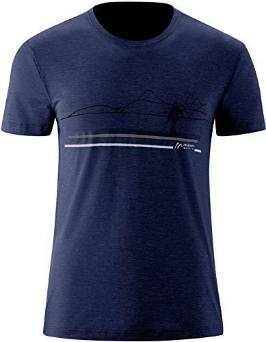 Maier Sports Myrdal Print Chemise Manches Courtes Homme, Aviator Melange Modèle DE 60 2020 T-Shirt Manches Courtes