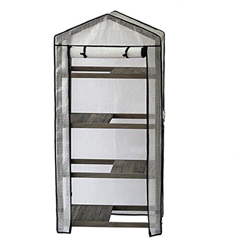 VegTrug Holz-Gewächshaus für Kinderzimmer und PE-Abdeckung, Grau