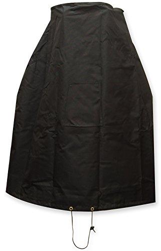 Oxbridge Black Outdoor Garden Chiminea Cover 1.02m x 0.39-0.62m/3.3ft x 1.25-2ft 5 YEAR GUARANTEE