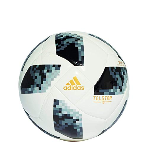 adidas Herren Ball World Cup, White/Black/Silver Metallic, Futsal, CE8144