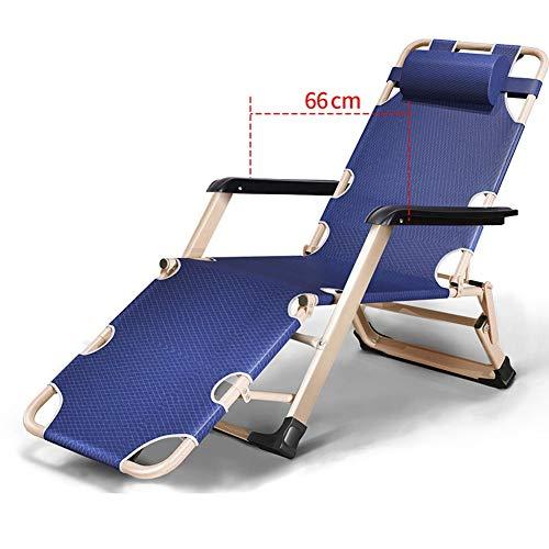 HYDT Reclinabile Pieghevole Four Seasons Imbottito di gravità Zero Patio Lounge Chair reclinabile per Giardino Esterno Cantiere Supporto 265lbs, può mentire Piatto (Color : Without Mat)