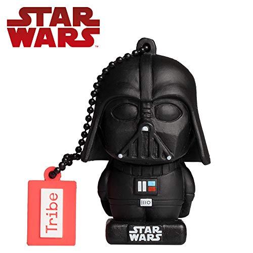 Llave USB 16 GB Darth Vader TLJ - Memoria Flash Drive 2.0 Original Star Wars, Tribe FD030509