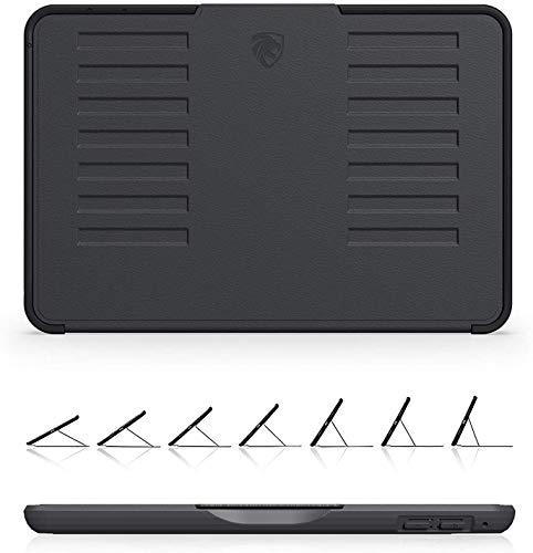 ZUGU iPad Mini 5 Hülle / Ipad Mini 4 Hülle schlanke Schutzhülle für die iPad Mini5 / iPad Mini4 7 Winkel-Ständer magnetisch, Stifthalter Auto Sleep /Wake UP [Schwarz]