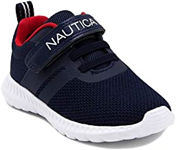 Nautica Kids Boys Fashion Sneaker Athletic Running Shoe with Stap for Toddler and Little Kids-Towhee-Navy-9