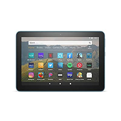 """All-new Fire HD 8 tablet, 8"""" HD display, 32 GB, designed for portable entertainment, Twilight Blue"""