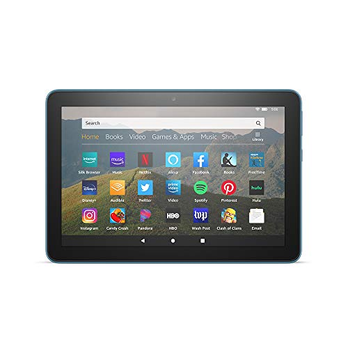"All-new Fire HD 8 tablet, 8"" HD display, 32 GB, designed for portable entertainment, Twilight Blue"