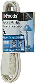 Woods 0600W 6-Ft. 3-Outlet 16/2 Cube Extension Cord w/ Power Tap