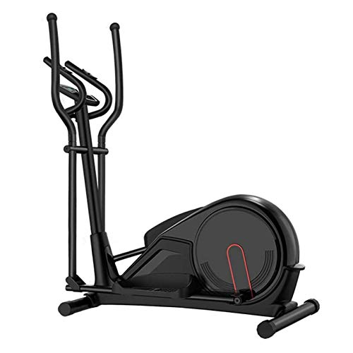 HWZGSLC Elliptical Machine Trainer Elliptical Exercise Machine for Home Use Life Fitness Bike with Fywheel Magnetic Resistance Heavy Duty Extra-Large Pedal & LCD Monitor Quiet Smooth