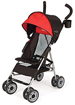 Kolcraft Cloud Lightweight Umbrella Stroller with Large Sun Canopy Scarlet Red