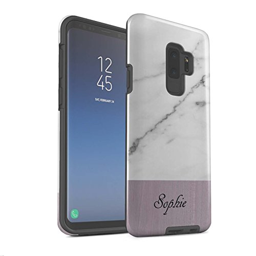 Stuff4 Phone Case/Cover/Skin/SG-3DTBG / Custom Marble/Wood Collection Samsung Galaxy S9 Plus/G965 Graniet/hout.