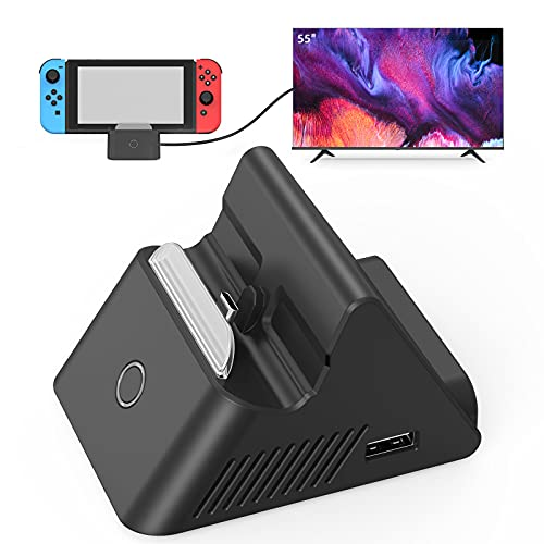 HEYSTOP Switch Dock for Nintendo Switch with HD HDMI, Portable Docking Station Replacement for Original Nintendo Switch Dock, TV Dock Compatible with Nintendo Switch with Type-C and USB 3.0 Port