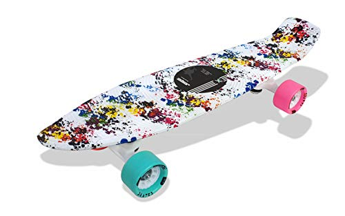 "Jaspo Cruiser Penny Board (22.5"" * 5.5"") (with Pink & Cyan Wheels)"