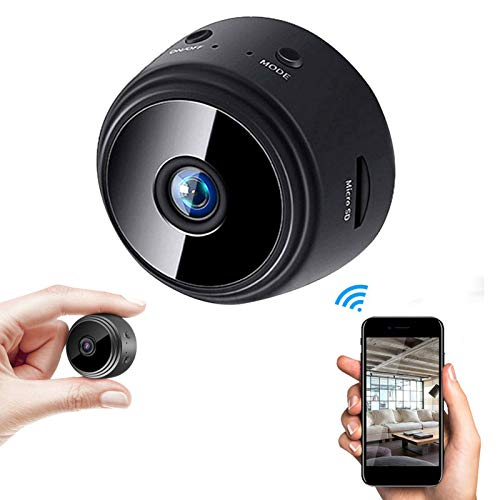 Mini Hidden Spy Camera HD 1080P Wifi Wireless IP Home Security Night Vision DVR With Motion Activated, Surveillance Cam for Car Home Office