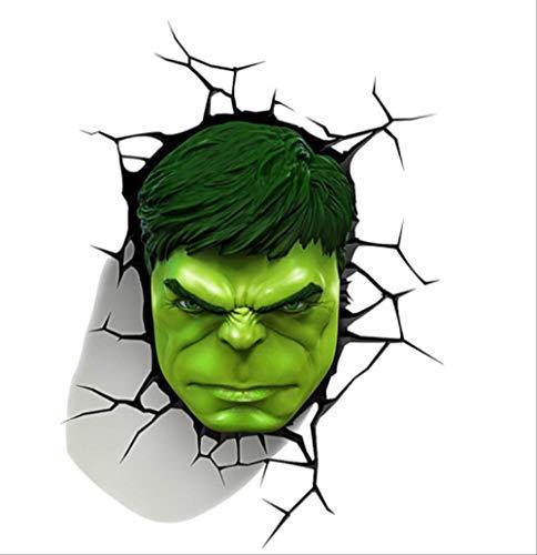 RUOXI Aufkleber Auto Kreative 3D Dreidimensionale Hulk Körper Dekoration Aufkleber WasserdichtSonnenschutzAuto Scratch Scratch Körper Gemalt AufkleberHulk Kopf (12 cm X 19 cm)