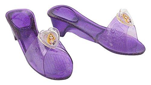 Princesas Disney - Zapatos de Rapunzel para niña, color lila - Talla 4-6 años (Rubies-35357)