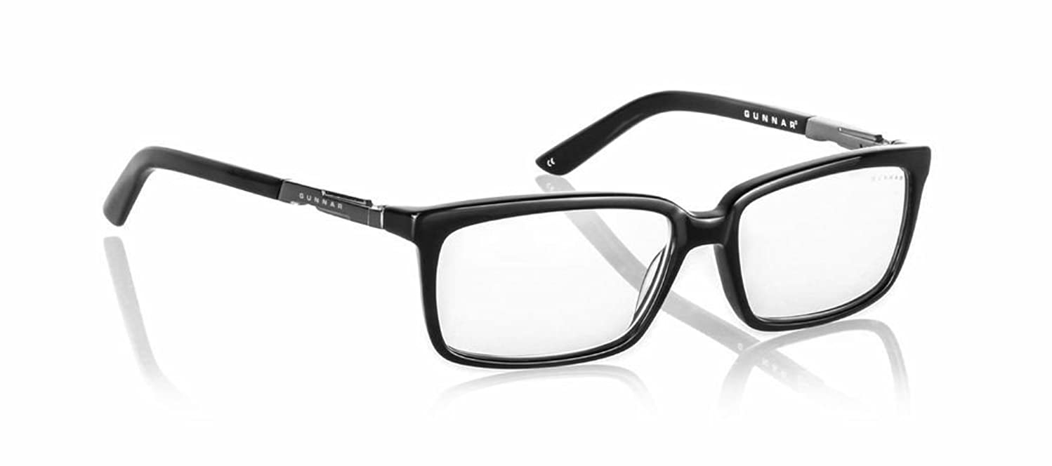 GUNNAR Gaming and Computer Eyewear/Haus, Clear Tint - Patented Lens, Reduce Digital Eye Strain, Block 10% of Harmful Blue Light