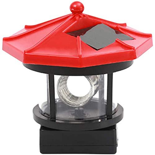NANUNU LED-Rundum Leuchtturm Licht Outdoor Solar-Licht-dekorative Lampe wasserdichtes Solarleuchten Wireless Outdoor-Leuchten für Gartenzaun Patio Yard