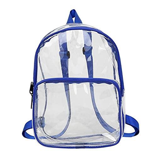 JIU SI Mochila de PVC Transparente Transparente Transparente Impermeable Unisex para Adultos y Estudiantes Bolsas de la Escuela de Mujeres Mochilas de Mochila Bolsas de Hombro (Color : Azul)