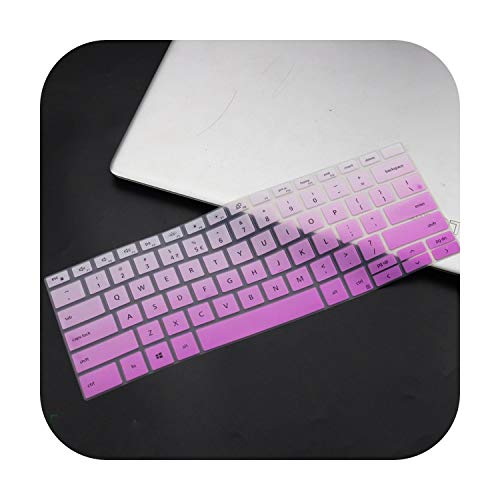 for DELL XPS 13 9300 2020 XPS 7390 2 in 1 Laptop Silicone Keyboard Cover Skin 13.3 inch Skin XPS13 9300 2020 Notebook Laptop -fadepurple-