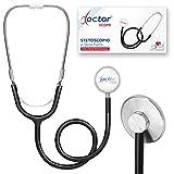 AIESI® Stetoscopio Professionale a testa piatta per adulti colore nero DOCTOR SCOPE # Garanzia Italia 24 mesi