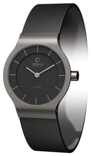 Obaku Harmony V133STBRB - Reloj para Mujeres, Correa de Cuero Color Negro