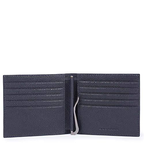 Verticale portemonnee voor heren met geldclip