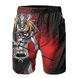 XCNGG Pantalones Cortos de Playa Anime Bleach Kurosaki Ichigo Men's Swim Trunks Quick Dry Beach Shorts Summer Swimming Pants