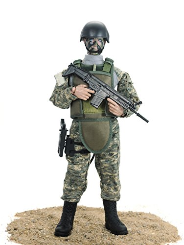 Beallar 12 '' Special Forces Military Armee Kampf Soldat Action Figur Playset- ACU