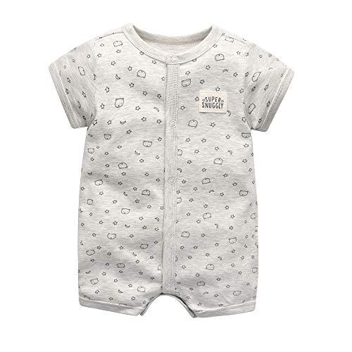 Bebé Pijama Niños Pelele de Algodón Body Manga Corta Verano Jumpsuit 3-12 Meses