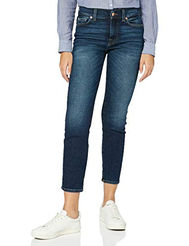 7 For All Mankind Slim Jeans, Blu Scuro, 23 Donna