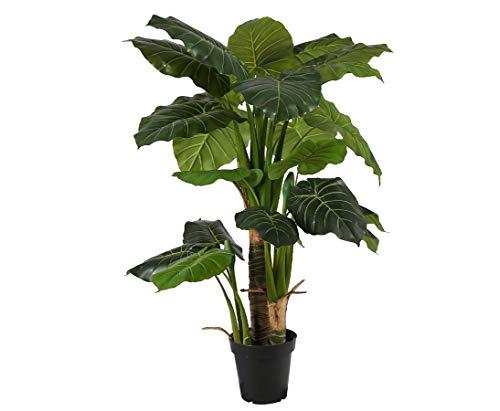 kunstpflanzen-discount.com Alocasia künstliches riesenblättriges Pfeilblatt 135cm mit 26 Blätter