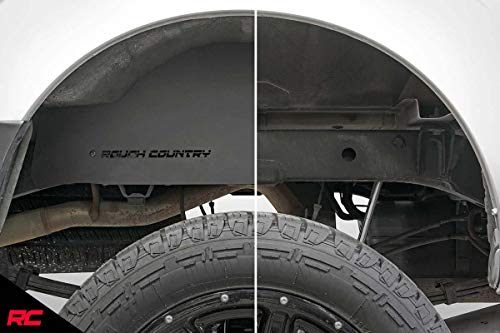 Rough Country Steel Rear Wheel Well Liners Compatible w/ 2005-2020 Frontier Crew Cab | 4300