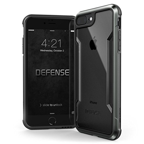 X-Doria Defense Shield Aluminum case for iPhone SE 2020/8/7, Black