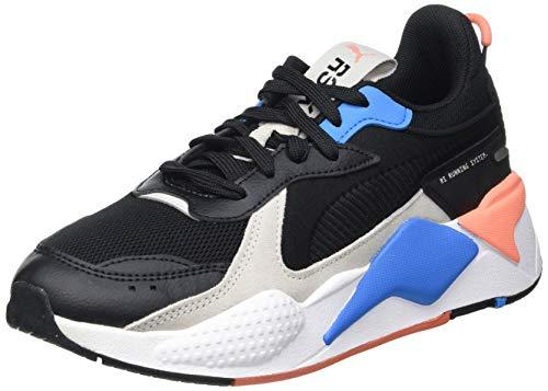 PUMA RS-X Monday JR Sneaker, Black Dresden Blau, 37 EU