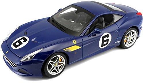 Bburago Ferrari California T Blue Sunoco #6 70th Anniversary 1/18 Diecast Model Car by 76104, Multi (B18-76104)