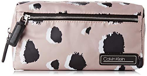Calvin Klein dames Primary Cosmetic Bag Pr schoudertas, Pink (POP Leo Nude), 13x24x11,5 cm