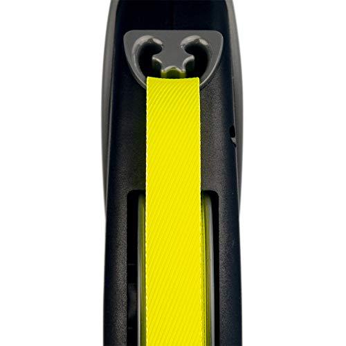 Flexi Roll-Leine GIANT L 8 m Gurt für Hunde bis 50 kg, schwarz/neongelb - 4