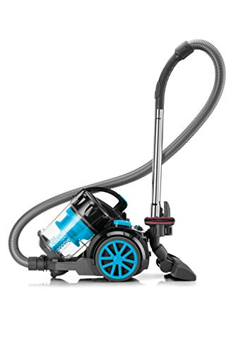BLACK+DECKER 2000-Watts Cyclonic Canister Vacuum Cleaner, 220V (Not for USA - European Cord), Medium, Blue and Black