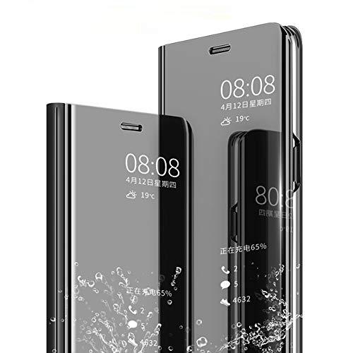 AE Mobile Accessories® Mirror Flip Cover Semi Clear View Smart Cover Phone...