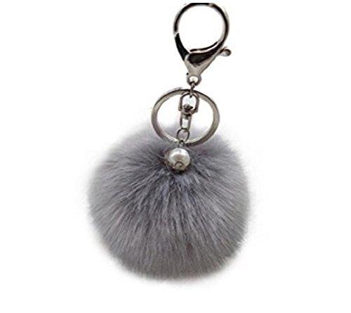 ILOVEDIY Kaninchenpelz Kugel Schlüsselanhänger mit Perlen anhänger