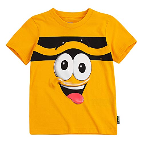 Crayola Children's Apparel Kids' Toddler Short Sleeve Character Graphic Crewneck T-Shirt Tee, Macaroni and Cheese, 3T