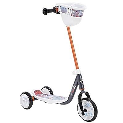 Huffy Frozen 2 Olaf Preschool Scooter, Handlebar Bin, Three Wheels & Wide Deck