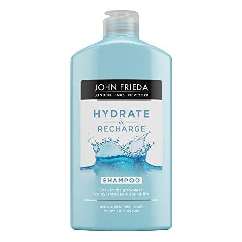 John Frieda Champú Hydrate & Recharge 250ml | con Keratina | Hidratante y Nutritivo | para Pelo Seco y Dañado